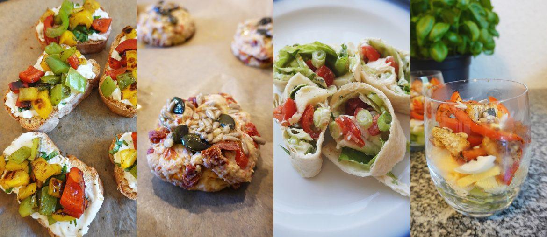 {Werbung, ohne Auftrag} Vegetarische Snack Ideen mit wenigen Zutaten – Gesund, einfach, schnell und lecker!